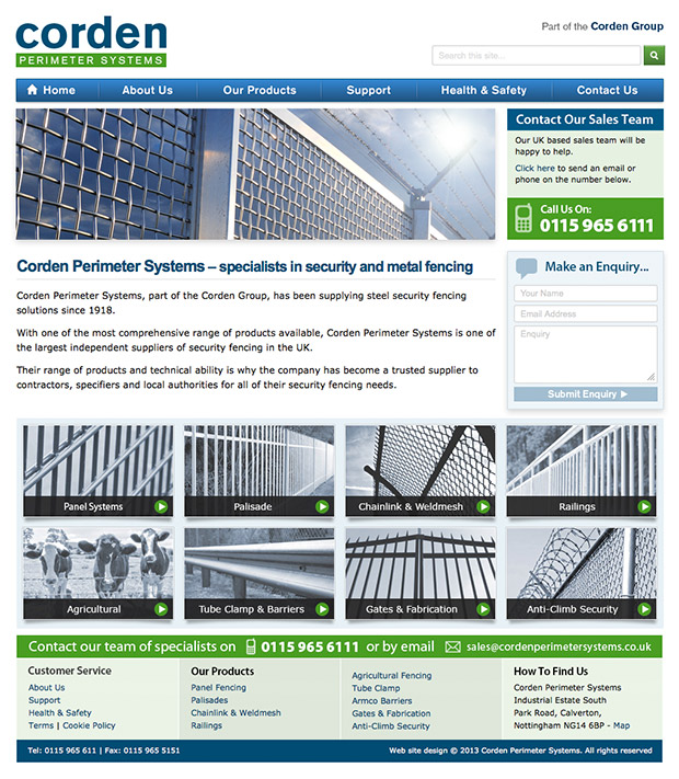 Corden Perimeter Systems Website