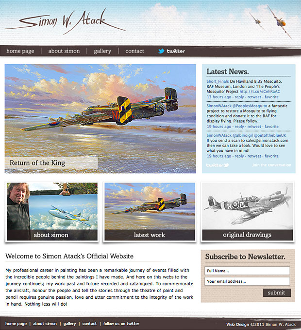 Simon Atack Aviation Artist Web site