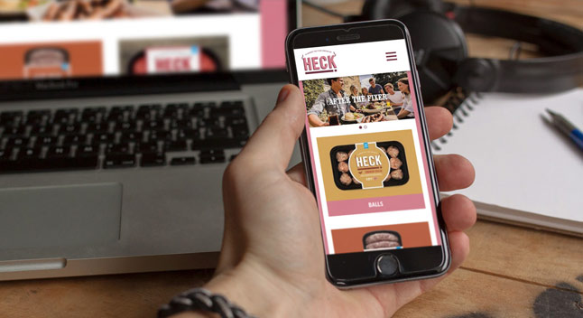 Web Design and support for Heck Foods