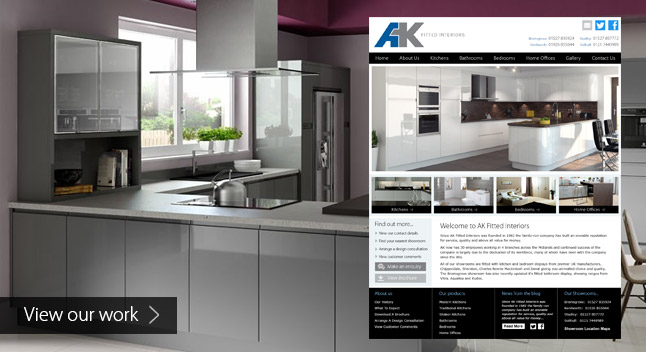 Responsive Web Design for Kitchen and Bedroom Companies